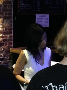 Sandi Gardiner signing autographs